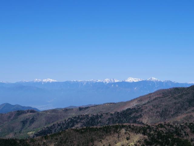 黒金山(桧尾~牛首のタル) 登山口コースガイド 黒金山山頂からの白根三山の展望【登山口ナビ】