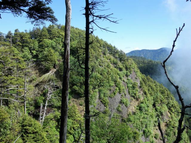 袈裟丸山(郡界尾根~後袈裟~奥袈裟)登山口コースガイド 最高峰の岩壁【登山口ナビ】