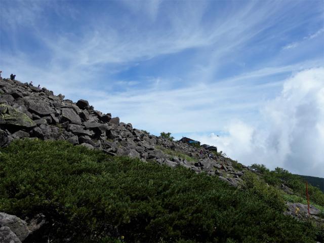 蓼科山(女乃神茶屋/すずらん峠登山口)登山口コースガイド 山頂直下のトラバース路【登山口ナビ】