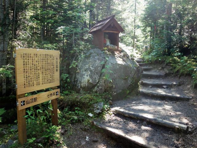 日光白根山(ロープウェイ山頂駅コース) 登山口コースガイド 大日如来像【登山口ナビ】