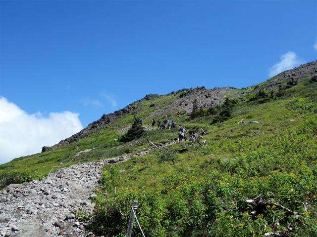 日光白根山(ロープウェイ山頂駅コース) 登山口コースガイド 砂礫の道【登山口ナビ】
