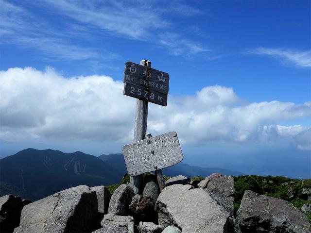 日光白根山(ロープウェイ山頂駅コース) 登山口コースガイド 山頂標【登山口ナビ】