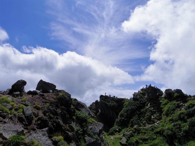 日光白根山(ロープウェイ山頂駅コース) 登山口コースガイド 山頂の複数のピーク【登山口ナビ】