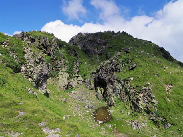 日光白根山(ロープウェイ山頂駅コース) 登山口コースガイド 山頂南側【登山口ナビ】