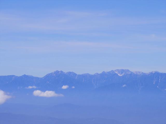 四阿山(鳥居林道口~上州古道)登山口コースガイド 四阿山山頂からの北アルプス【登山口ナビ】