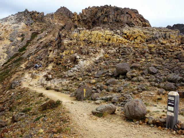 那須岳(朝日岳~姥ヶ平) 登山口コースガイド 恵比寿大黒の標識【登山口ナビ】
