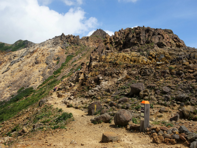 那須岳(朝日岳~三本槍岳) 登山口コースガイド 恵比寿大黒の標識【登山口ナビ】
