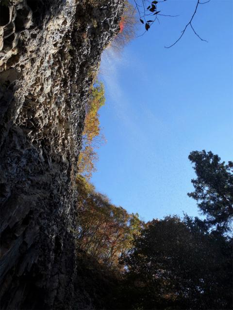 荒船山(威怒牟畿不動~艫岩~左岸コース周回)登山口コースガイド 不動の滝直下【登山口ナビ】