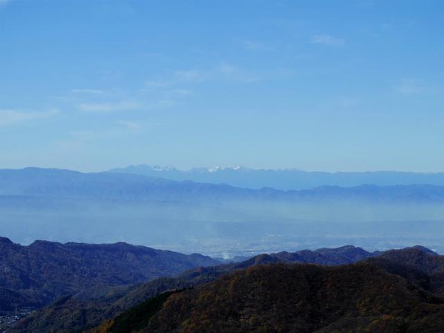荒船山(威怒牟畿不動~艫岩~左岸コース周回)登山口コースガイド 艫岩展望台からの北アルプス【登山口ナビ】