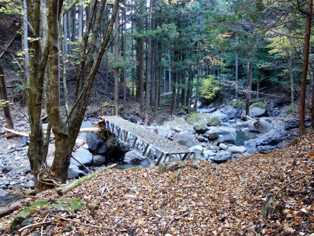 荒船山(威怒牟畿不動~艫岩~左岸コース周回)登山口コースガイド 鉄橋【登山口ナビ】
