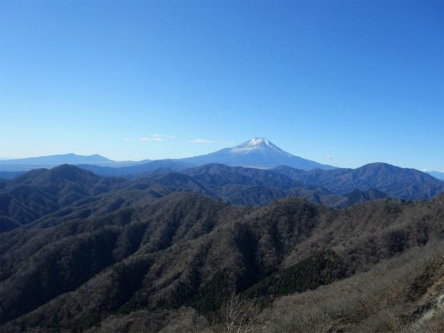 大室山(道志の湯~加入道山)登山口コースガイド 西斜面からの富士山【登山口ナビ】