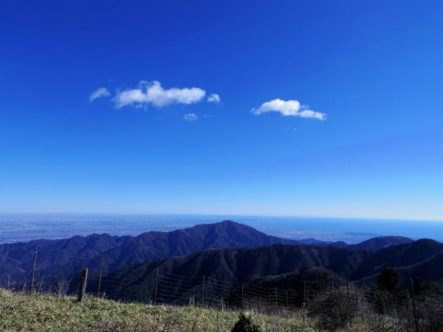 丹沢山(天神尾根~丹沢主脈)登山口コースガイド 竜ヶ馬場からの大山の眺望【登山口ナビ】