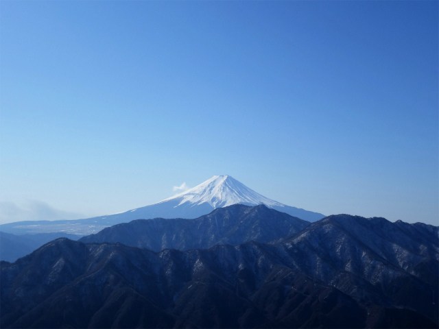 滝子山(南陵/寂ショウ尾根)登山口コースガイド 浜立山分岐からの富士山【登山口ナビ】