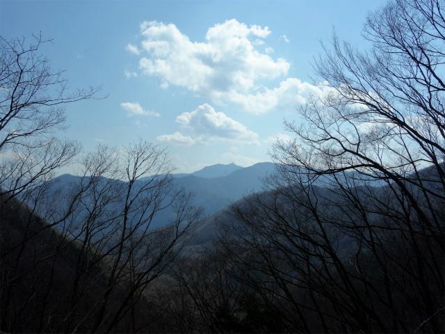 滝子山(道証地蔵~すみ沢コース)登山口コースガイド 迂回路からの三ツ峠と富士山【登山口ナビ】