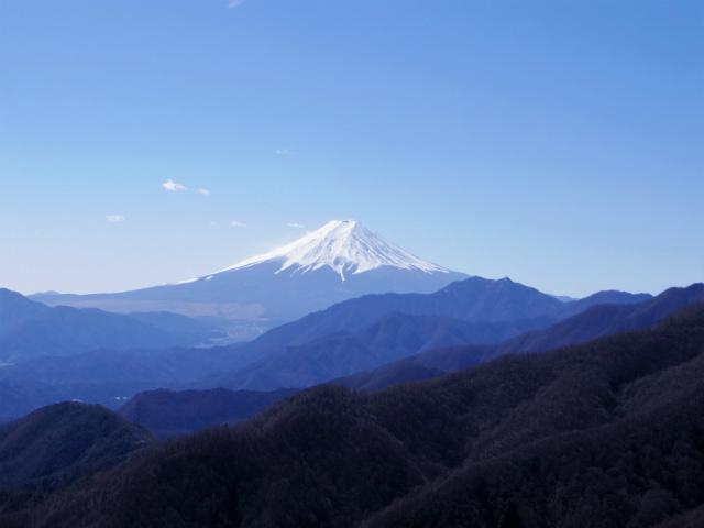 雁ヶ腹摺山(金山鉱泉~姥子山)登山口コースガイド 姥子山山頂から富士山の眺望【登山口ナビ】