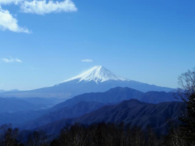 雁ヶ腹摺山(金山鉱泉~姥子山)登山口コースガイド 山頂からの富士山【登山口ナビ】
