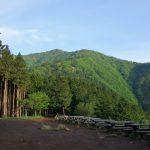 大山(日向~雷ノ峰尾根)登山口コースガイド 見晴台のベンチ【登山口ナビ】