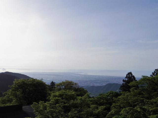 大山(表参道~見晴台周回)登山口コースガイド 阿夫利神社下社から相模湾の眺望【登山口ナビ】