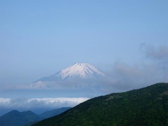 大山(表参道~見晴台周回)登山口コースガイド 二十丁目 二ノ塔尾根と富士山【登山口ナビ】