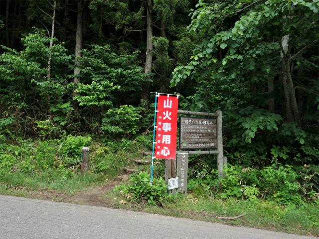 平標山/仙ノ倉山(松手山コース)登山口コースガイド 登山道入口【登山口ナビ】