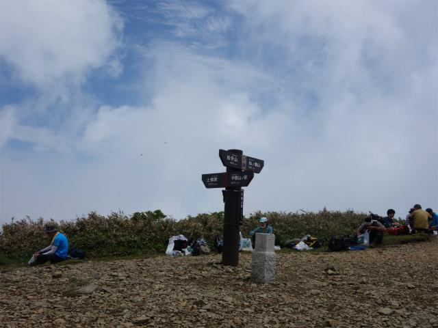 平標山/仙ノ倉山(松手山コース)登山口コースガイド 平標山山頂【登山口ナビ】