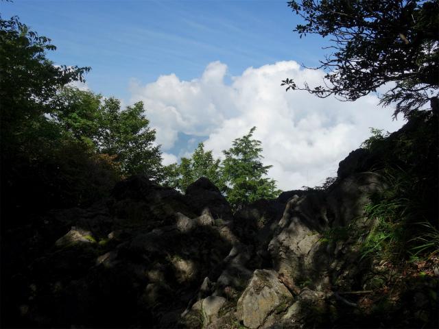 雲取山(霧藻ヶ峰・三峰ルート)登山口コースガイド 露岩の展望台【登山口ナビ】