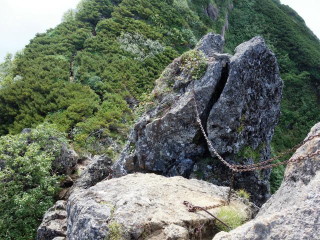 八ヶ岳・阿弥陀岳(御小屋尾根)登山口コースガイド 摩利支天の鎖場【登山口ナビ】