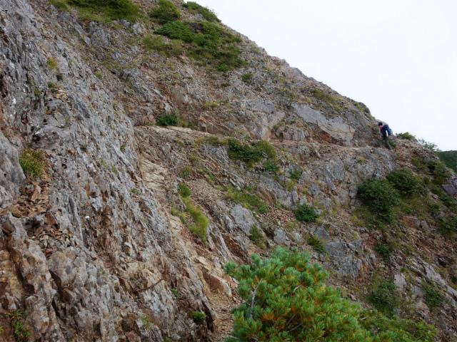 八ヶ岳・権現岳(西岳~源治新道)登山口コースガイド 西ギボシの巻き道【登山口ナビ】