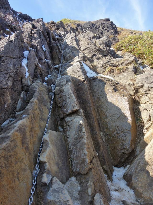 谷川岳 トマノ耳/オキノ耳(西黒尾根)登山口コースガイド 岩稜の鎖場【登山口ナビ】