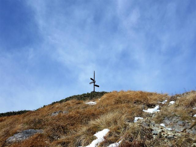 谷川岳 トマノ耳/オキノ耳(西黒尾根)登山口コースガイド 谷川岳山頂指導標【登山口ナビ】