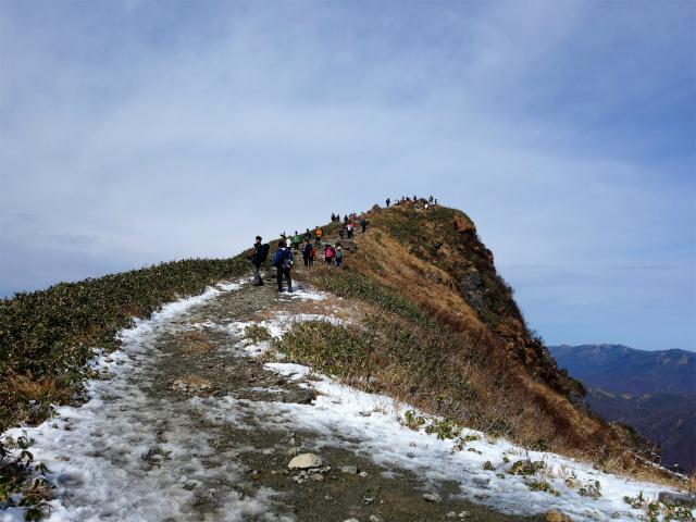 谷川岳 トマノ耳/オキノ耳(西黒尾根)登山口コースガイド 山頂稜線【登山口ナビ】
