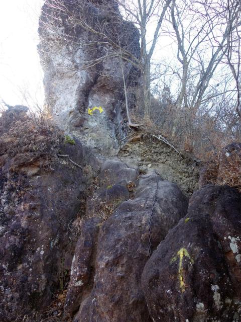 裏妙義・丁須の頭(籠沢コース~三方境周回)登山口コースガイド 岩峰のトラバース鎖場【登山口ナビ】