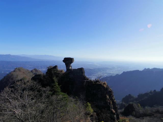 裏妙義・丁須の頭(籠沢コース~三方境周回)登山口コースガイド 中間峰からの丁須の頭の眺望【登山口ナビ】