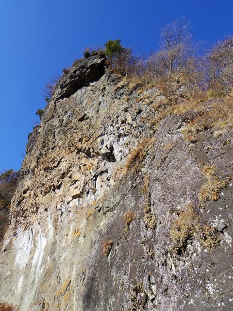 裏妙義・丁須の頭(籠沢コース~三方境周回)登山口コースガイド 赤岩の岩壁【登山口ナビ】