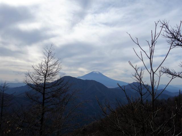 今倉山・高岩(道坂峠~パラジマ沢コース)登山口コースガイド 西峰山頂直下の露岩からの富士山【登山口ナビ】