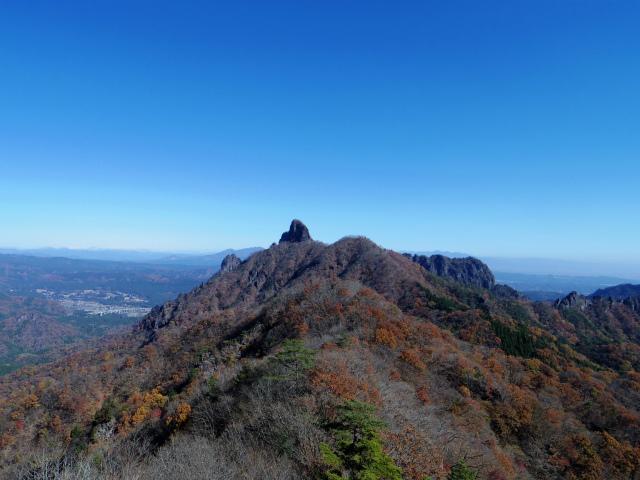 谷急山(旧国民宿舎~三方境)登山口コースガイド P2肩手前からの裏妙義稜線【登山口ナビ】