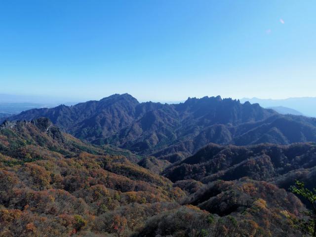 谷急山(旧国民宿舎~三方境)登山口コースガイド P2肩からの表妙義【登山口ナビ】