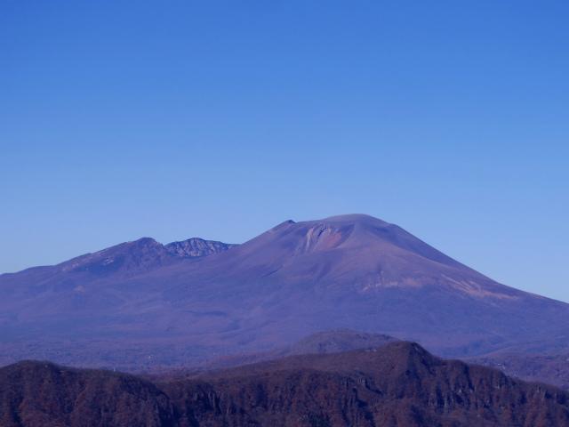 谷急山(旧国民宿舎~三方境)登山口コースガイド 谷急山山頂からの浅間山【登山口ナビ】