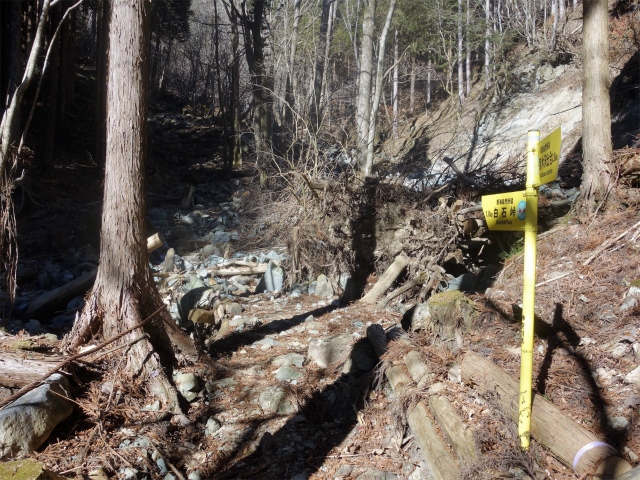 大室山(白石峠~加入道山)登山口コースガイド 黄色の指導標【登山口ナビ】