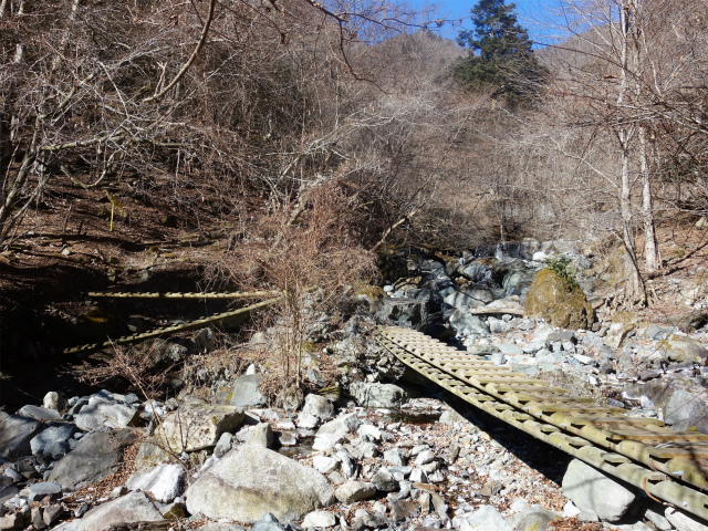 大室山(白石峠~加入道山)登山口コースガイド 木橋【登山口ナビ】