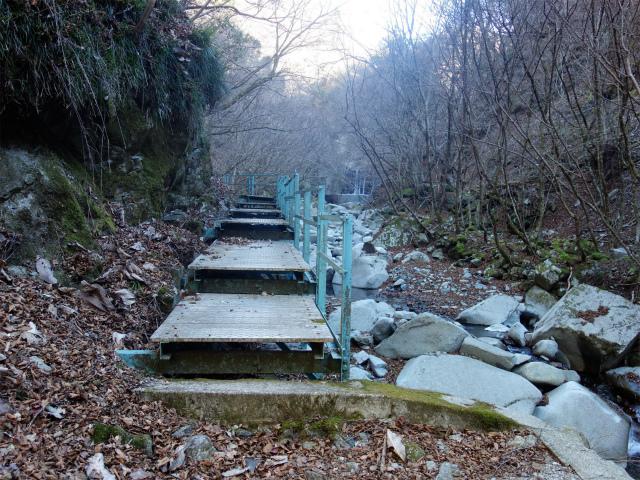 大室山(用木沢出合~犬越路コース) 登山口コースガイド 鉄橋【登山口ナビ】