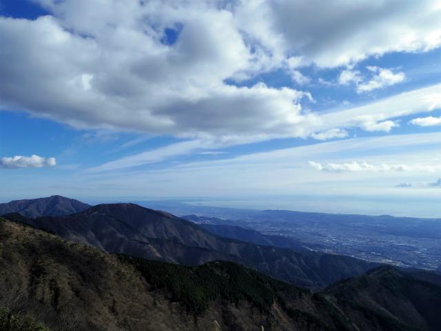 塔ノ岳(二俣~小丸尾根)登山口コースガイド 小丸分岐から大山の眺望【登山口ナビ】