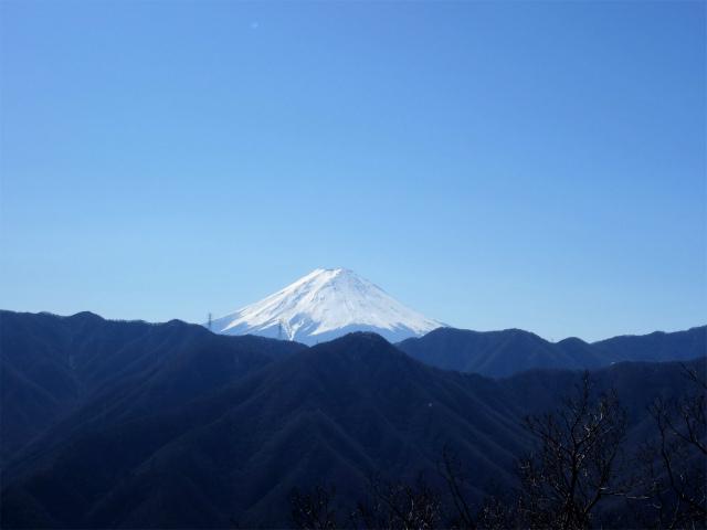 笹子雁ヶ腹摺山(吉田口~笹子峠周回)登山口コースガイド 反射板からの富士山の眺望【登山口ナビ】