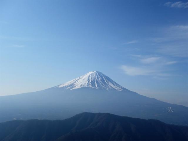 鬼ヶ岳(淵坂峠~毛無山~十二ヶ岳)登山口コースガイド 山頂直下からの富士山【登山口ナビ】