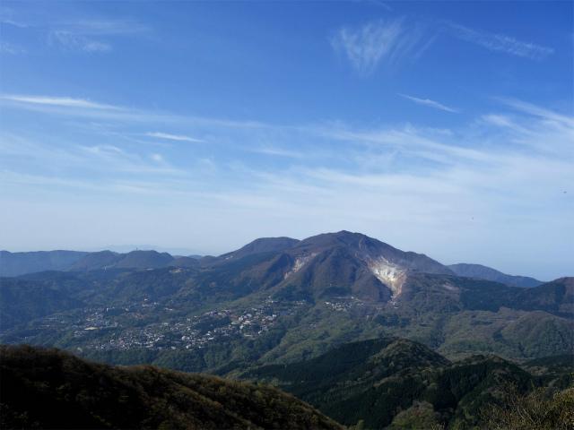 明神ヶ岳(金時見晴パーキング・火打石岳)稜線からの箱根駒ヶ岳の眺望【登山口コースガイド】