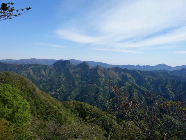 両神山(天理岳~天武将尾根) 登山口コースガイド 稜線からの二子山と西上州の山々【登山口ナビ】