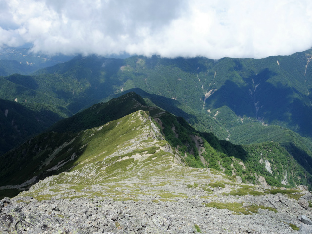 北岳(右俣コース)登山口コースガイド 中白峰沢ノ頭【登山口ナビ】