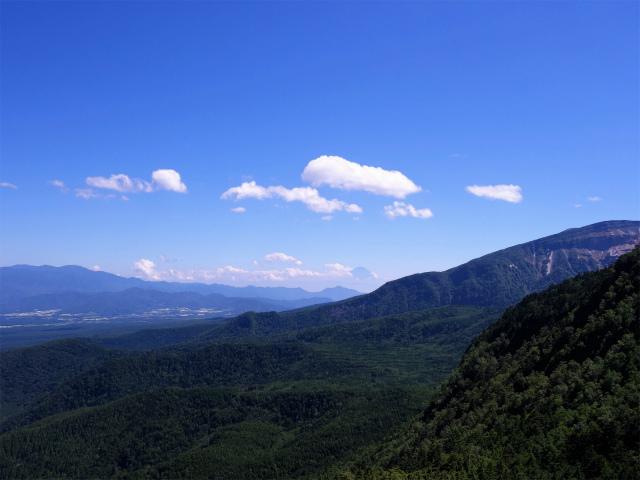 八ヶ岳・中山/ニュウ(麦草峠~白駒池周回)登山口コースガイド にゅうの山頂からの富士山【登山口ナビ】