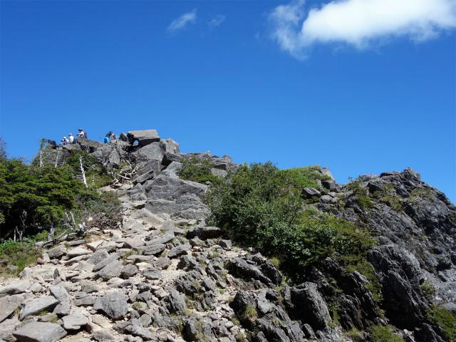 八ヶ岳・中山/ニュウ(麦草峠~白駒池周回)登山口コースガイド にゅうの露岩【登山口ナビ】