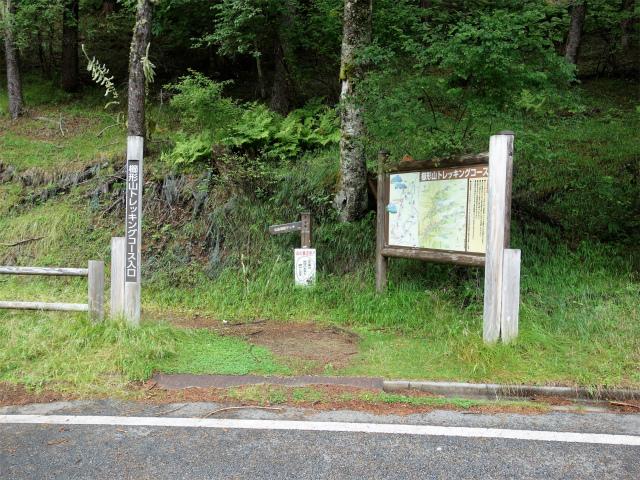 櫛形山(池の茶屋林道口~アヤメ平周回)登山口コースガイド トレッキングコース入口【登山口ナビ】